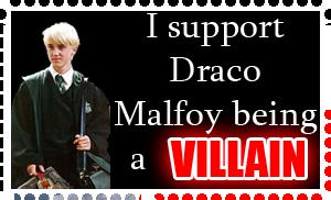 Villain Draco Malfoy stamp by KindGenius