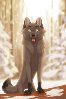 Commisson  Snow day by LaivaWolf