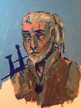 Geralt painting