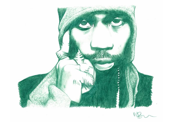 Rza Pencil Sketch by DJMark563