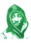 Tupac Shakur Pencil Sketch