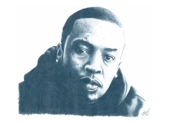 Dr Dre Pencil Sketch by DJMark563