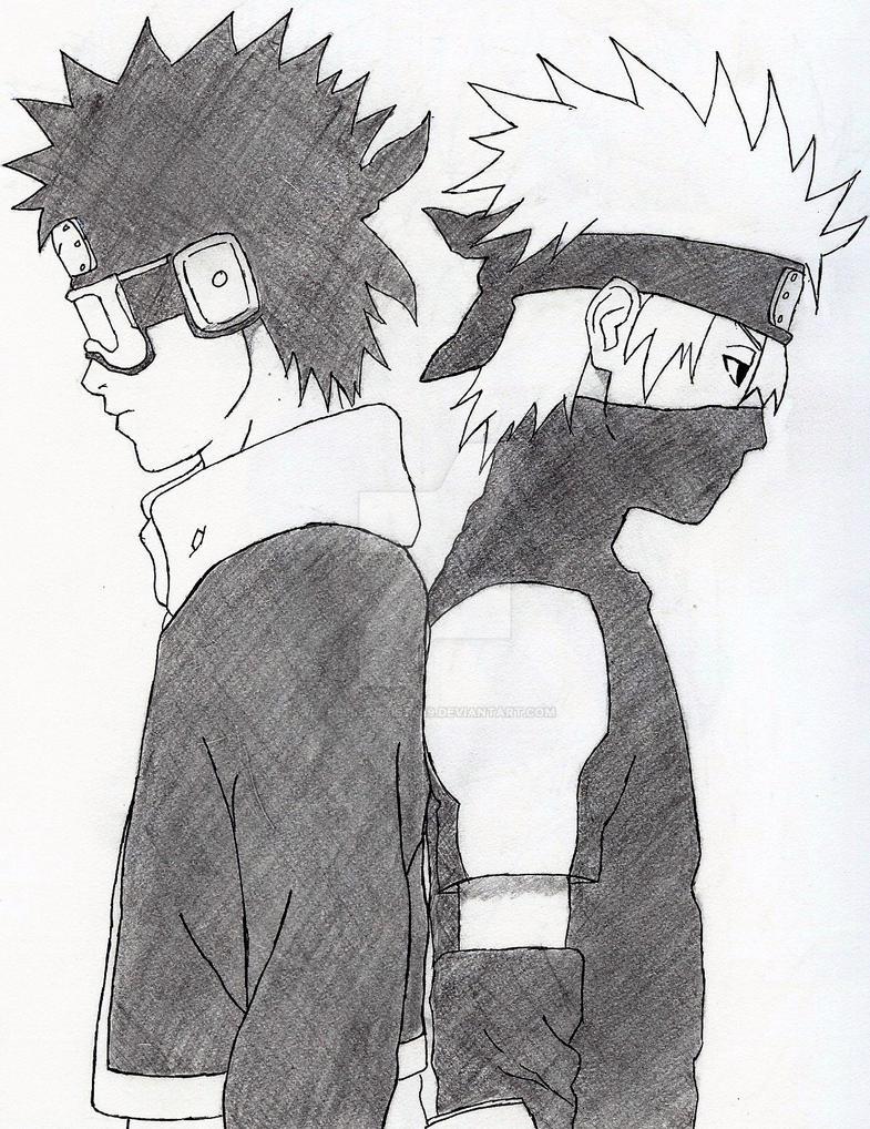 Kakashi And Obito Drawing | www.pixshark.com - Images ...