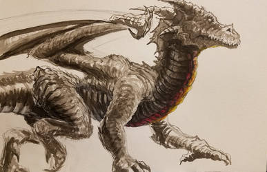 More work on the dragon