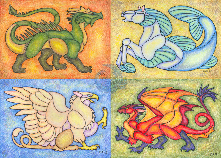 Heraldic Elements by crocodiledreams