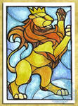 ACEO/ATC: Crowned Lion