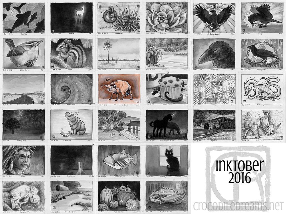 Inktober 2016 by crocodiledreams