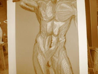 Sketch: Male Nude by Teenage-Queen
