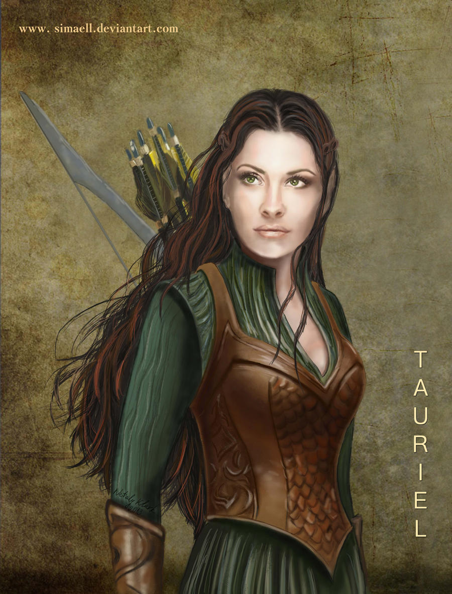 Tauriel, a Silvan Elf by Simaell