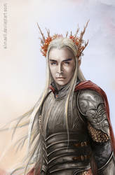 Thranduil, Elvenking of Mirkwood by Simaell