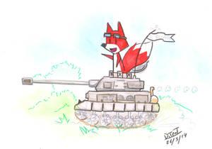 Un renard sur World of tank !