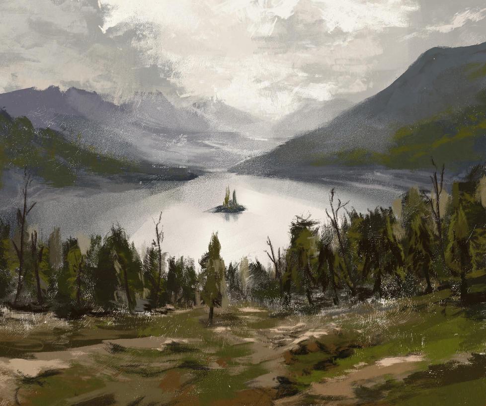 Landscape Study by knotty02