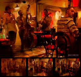 The Jazz band by ali-kiani-amin