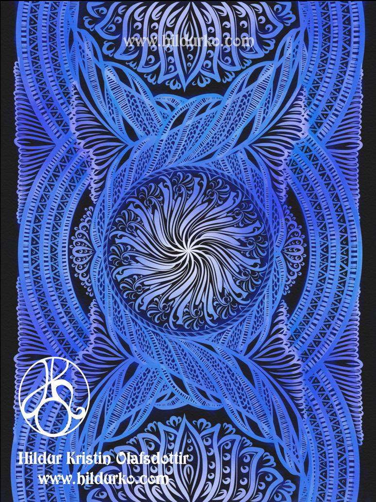 Healing Wave / Inktober day 3 2017. by hildur-k-o