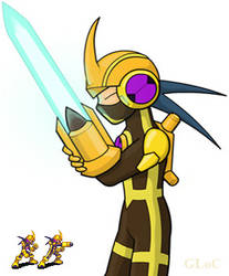 Megaman.EXE Elecsword Style by GL-of-Cybertron