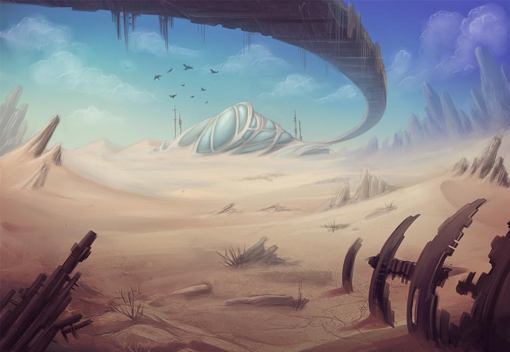 Desert Sky by cibo-black-cat