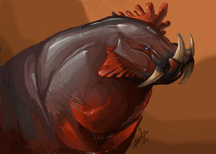 Enigmatic RoosterHippo by beastofoblivion