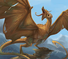 Copper Wyvern by beastofoblivion