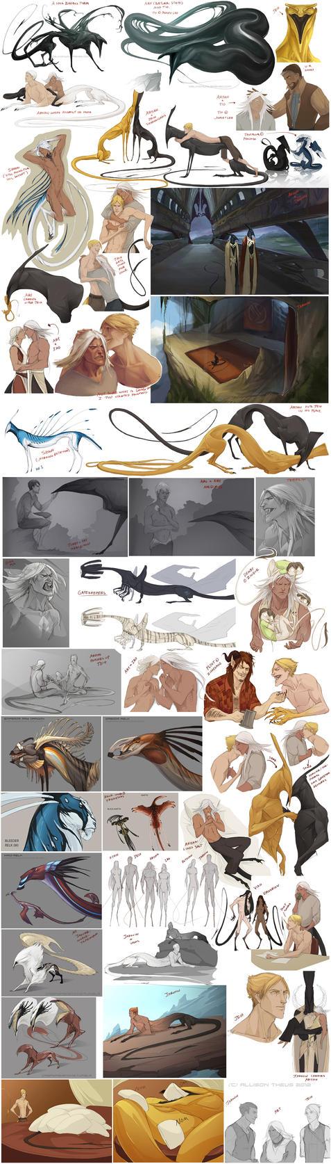 Character Sketchdump 8 by beastofoblivion