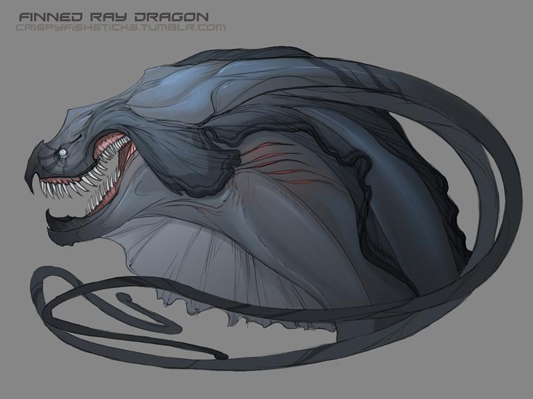 Finned Ray Headshot by beastofoblivion