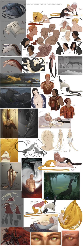 Character Sketchdump 9 by beastofoblivion