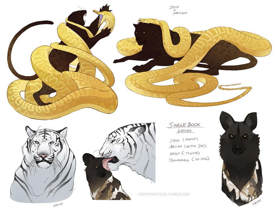 Jungle Book Locks by beastofoblivion