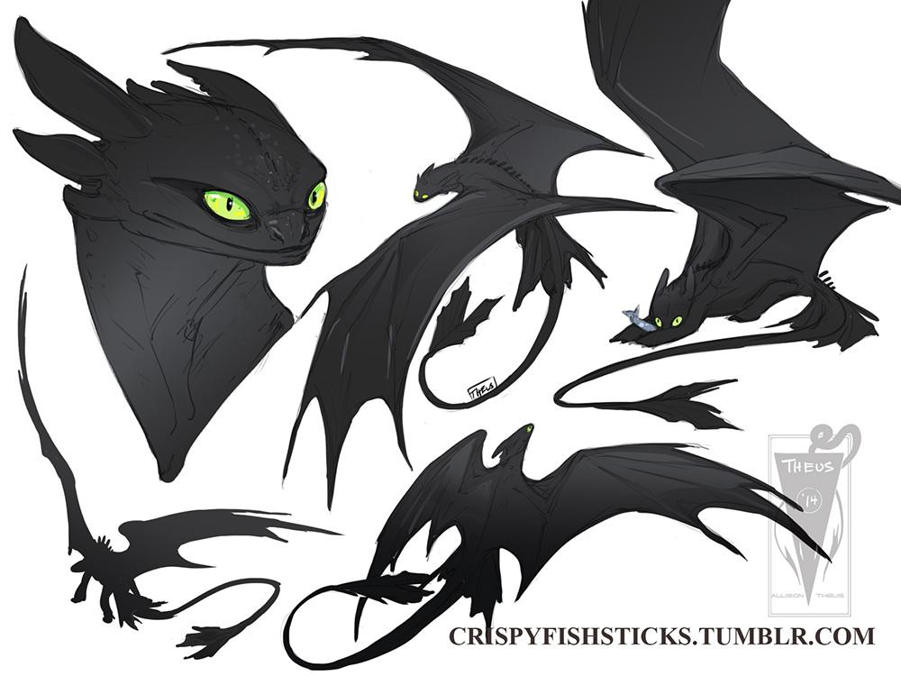 How To Draw Night Fury Dragon