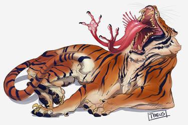 Strange Tiger by beastofoblivion