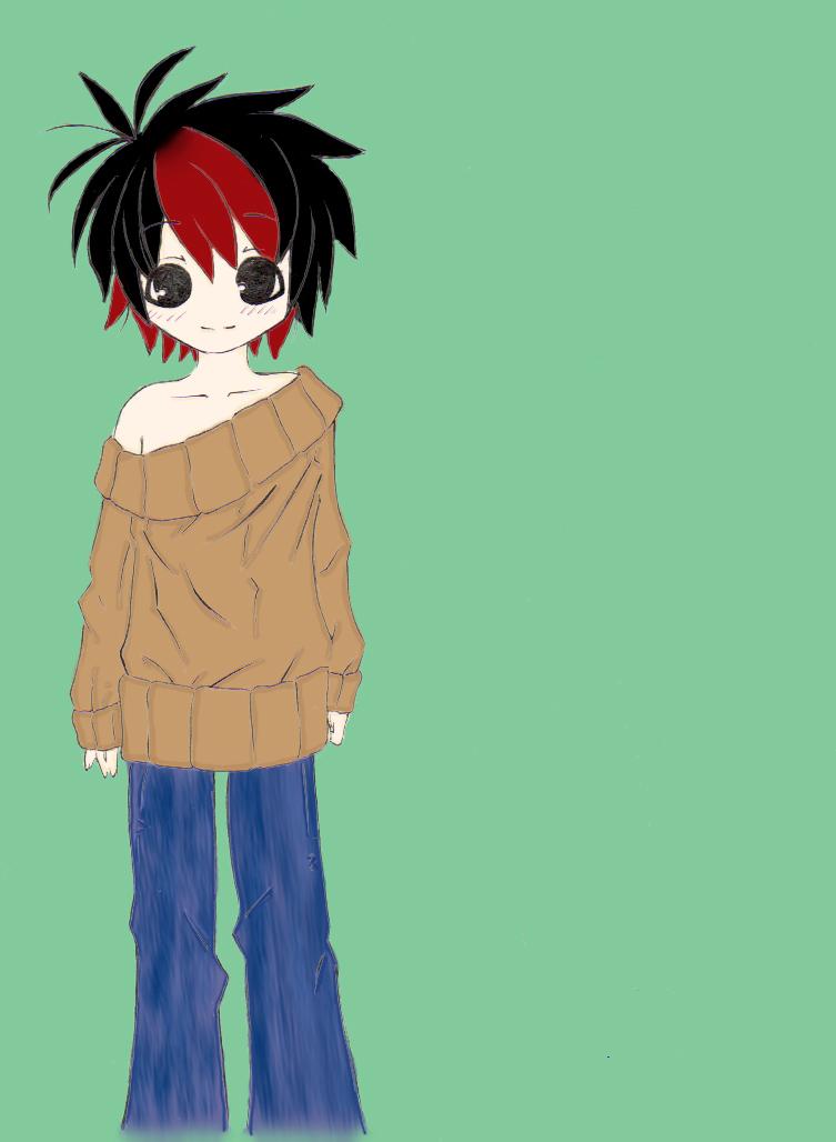 Anime Boy Lineart by ~StarlingRose on deviantART