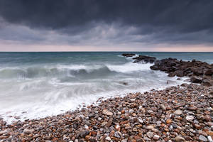 A Stormy Saturday at the Beach by jimitux
