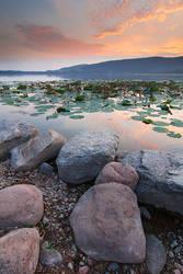 Sunset on Comabbio Lake