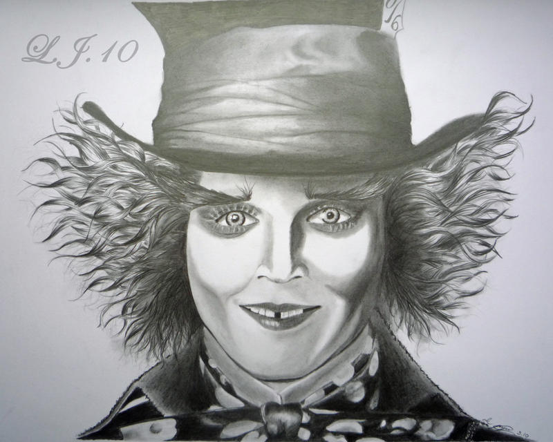 Johnny Depp Mad Hatter Drawing Mad Hatter Johnny Depp by