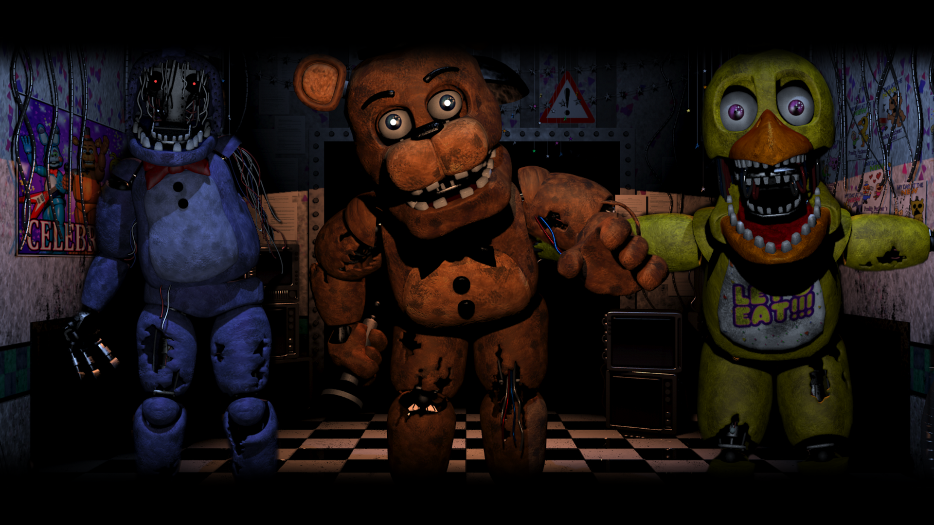 Old gang five nights at freddy s 2 wallpaper by bloodyhorrible on
