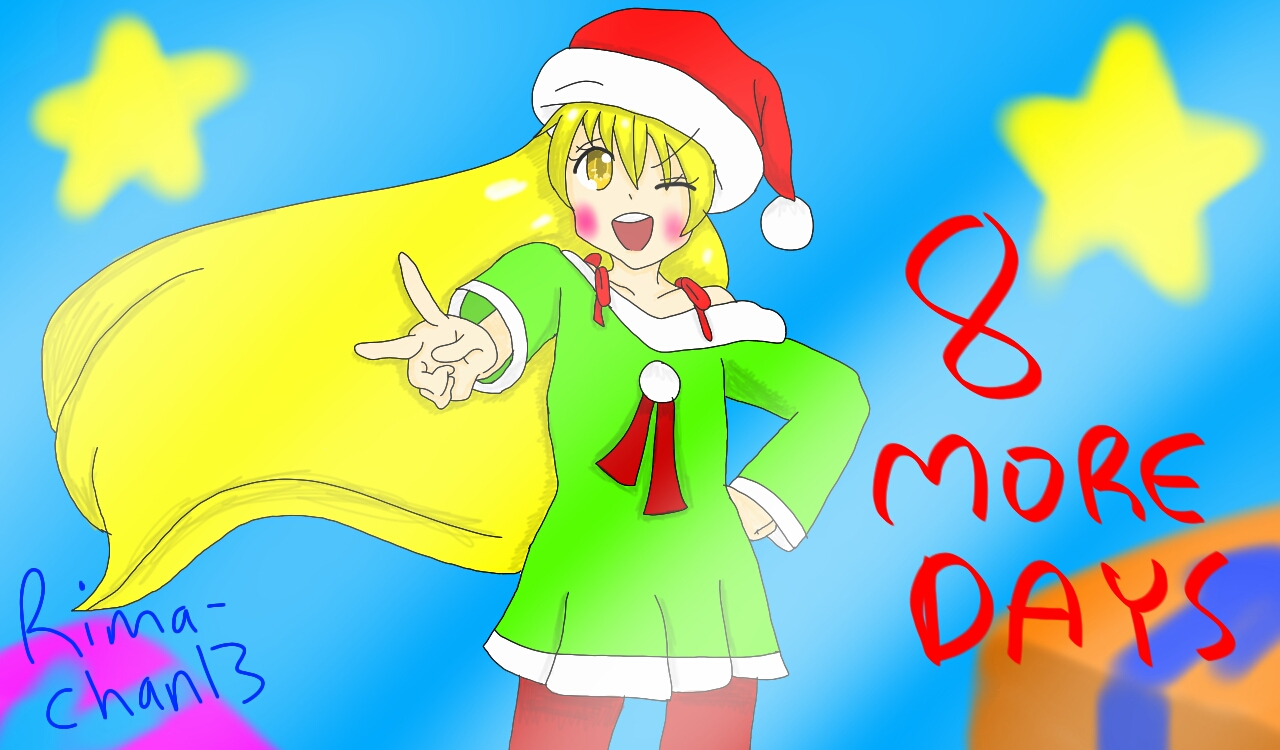 8 more days till christmas by RimaChan13 on DeviantArt