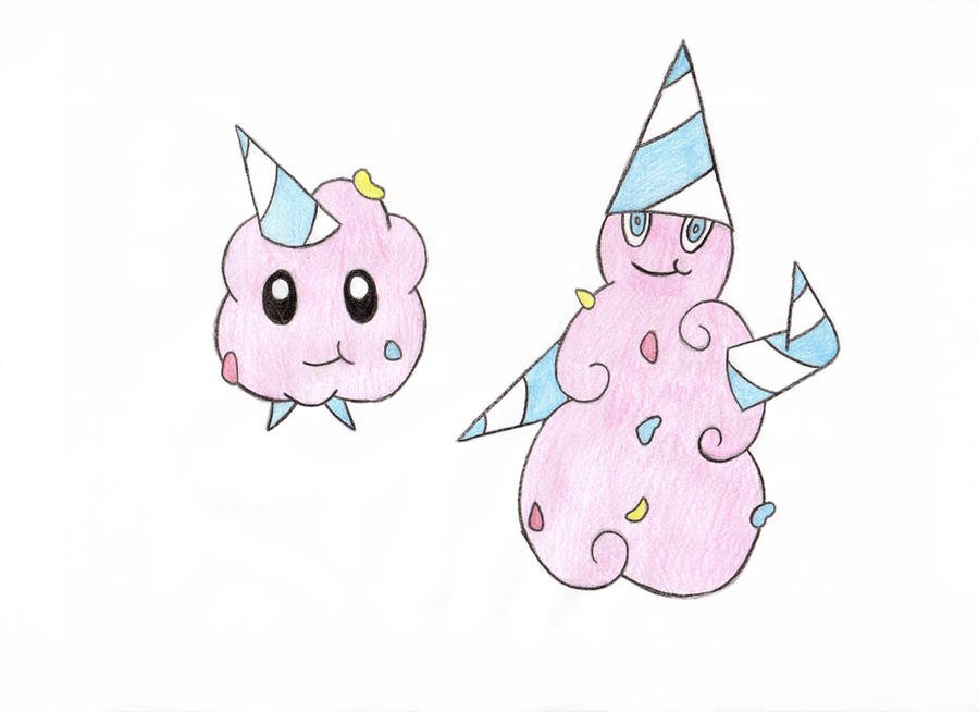 Cotton Candy Fakemon By RubyShark
