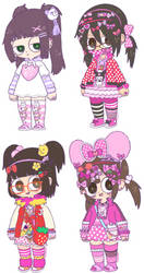 3/4 decora-chan by solipolly