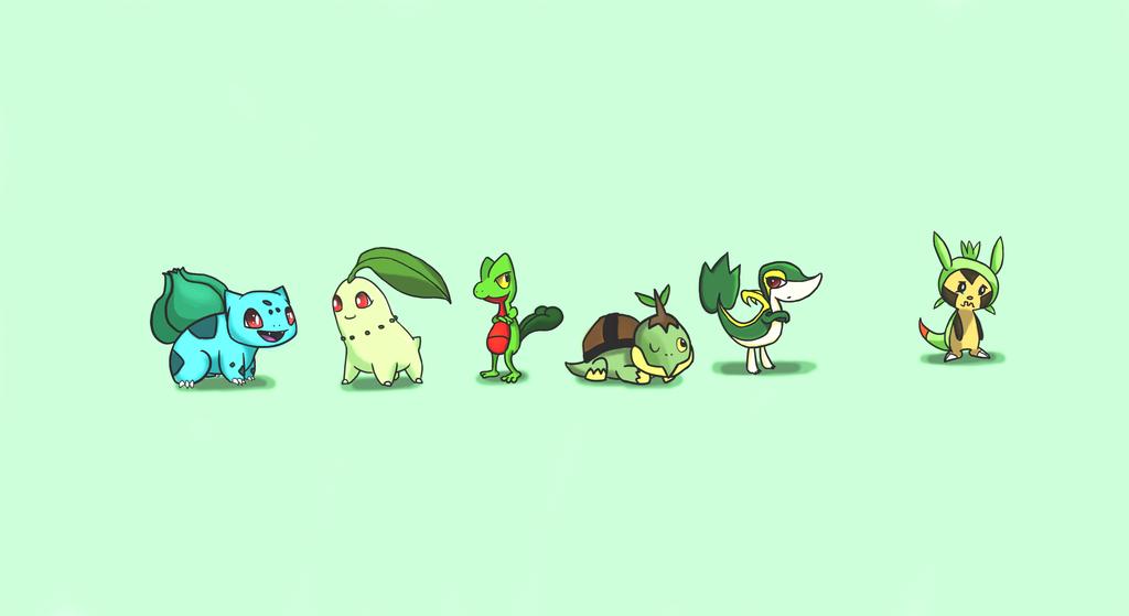 Pokemon Grass Starters by DaSaurian on DeviantArt