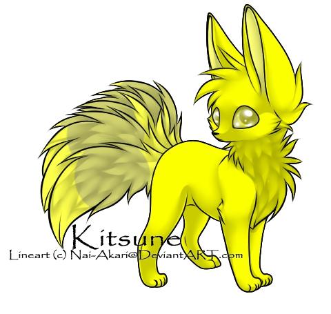 Kitsune Adopt 6 - YURM-- YELLOW by Twisting-Dreams