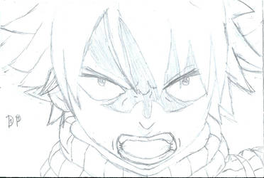 Angry Natsu Dragneel suggested by Dei-bon