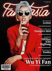 Vampire Wu Yi Fan for Fangtasia magazine (fake) by Hizoumie