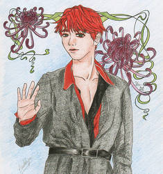 Flower boy EXO's Byun Baekhyun
