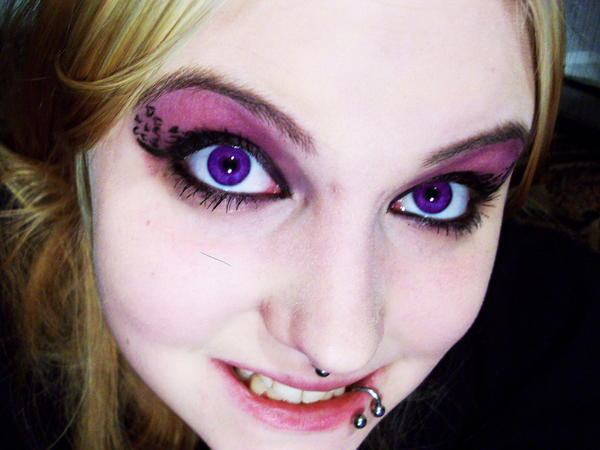 Real people with purple eyes