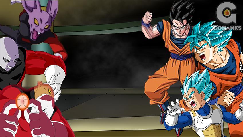 Goku Vegeta Y Gohan vs Universo 11 by GohanksDBS