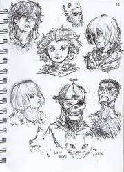 Pen Sketch #12 by nycnoa