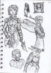 Pen Sketch #37 by nycnoa