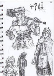 Pen Sketch #36 by nycnoa