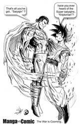 Superman vs Goku | Manga vs Comic by The13thbastard
