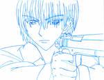 Zero Kiryu Lineart by Faithp15