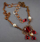 Champagne and Rouge Necklace