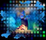 Blu butterfly lady